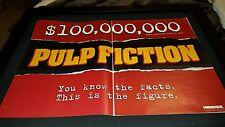 Pulp Fiction $100 Million Box Office Rare Original Promo Poster Ad Framed!
