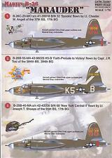 Print Scale Decals 1/72 MARTIN B-26 MARAUDER American WWII Medium Bomber
