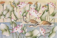 Hand painting Balinese Duck Birds 314