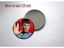 "Spock Leonard Nimoy 'Live Long and Prosper' Hand 2 1/4"" Pocket/Purse Mirror"