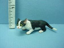 Miniature Stealth Cat #A3095Bw Black & White Falcon Miniatures 1/12th Scale