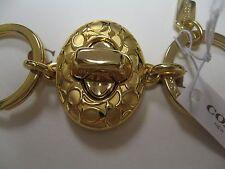 "Coach ""C"" Signature Gold  Tone Valet Key FOB 65501 NWT"