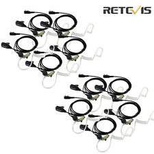 10pcs 2pin Covert Earpiece Headset for Retevis H-777 Baofeng 888S Kenwood KPG77D