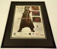 Blade II 2002 XBox PS2 11x14 Framed ORIGINAL Advertisement Wesley Snipes