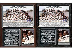 Oakland Raiders Super Bowl XI Champions Photo Card Plaque