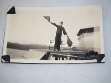 """Vintage Photo of a Young Military Naval Flag semaphore 3"""" x 5"""""""
