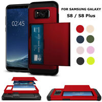 Wallet Credit Card Holder Slim Shockproof Cover Case For Samsung Galaxy Phones