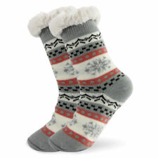 Women Socks Thick Knit Sherpa Lined Thermal Fuzzy Slipper Christmas Gift 6-11