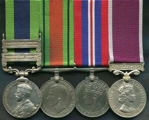 Medal group with India Waziristan 1919-21, 1921-24 and E2 type Army Long Service