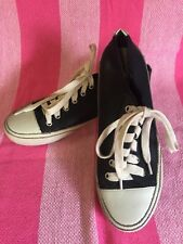 Witchery Leather Sneakers - Black and White - Size 37