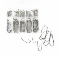 100pcs Fishing Hooks Set With Box Portable Sea Fly Tackle 10 Size Fresh Water