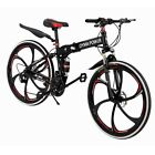 Mountain Bike 21 Speed 26 inch Folding Bike Double Disc Brake Bicycles