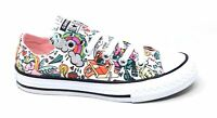 Converse Youth CTAS OX White Storm Flat Sneakers Pink Multi Size 12