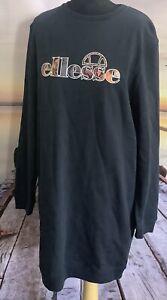 Ellesse Heritage  Exclusive Gila sweat Dress  Size 10  Navy