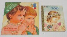Lot of 2 Books Little Prayers & my little book about God Eloise Wilkin