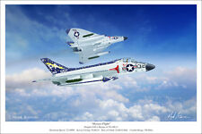 "Douglas F4D-1 Skyrays US Navy Aviation Art Print - 16"" x 24"""