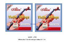 ALICE A703 OFFERTA di N° 2 CORDIERE SET DI CORDE MUTA PER VIOLINO 3/4 E 4/4