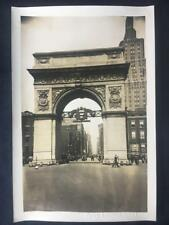 1932 Bicentennial Washington Square Arch Manhattan NYC Old Original Photo U13