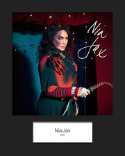 NIA JAX #2 (WWE) Signed (Reprint) 10x8 Mounted Photo Print - FREE DELIVERY