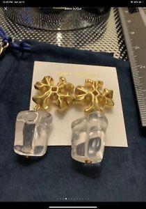 Tory Burch Roxxanne Kira Clear Earrings