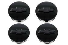 OEM NEW Wheel Center Caps Set of 4 Gloss Black w/Bowtie 15-18 Chevrolet 23480948