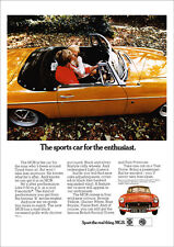 MG MGB 1970 RETRO POSTER A3 PRINT FROM CLASSIC ADVERT