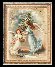Christmas Angels Miniature Dollhouse Doll House Picture