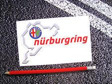Nurburgring alfa romeo autocollant spider gtv 159 mito nordschleife F1 du mans