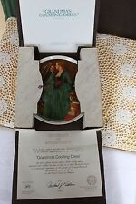 Knowles 1984 Mother's Day Rockwell Classic - Grandma's Courting Dress - Coa
