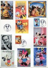 FRANCE document phil. Disney, Fete timbre 1° j. 6.3.04, DONALD, MINNIE, MICKEY