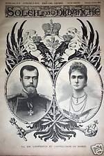SOLEIL DU DIMANCHE 1896 N 40 LES SOUVERAINS DE RUSSIE