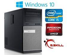 Dell Gaming Computer PC Intel i5 3.1ghz 8gb RAM 500gb AMD Radeon HD 7970 Win 10