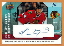 2008 ,UPPER DECK , SPRING EXPO , MARTIN HAVLAT , PRIORITY SIGNINGS , AUTO , 1/10
