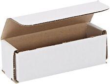 50- 13.5 x 3.5 x 3.5 White Cardboard Carton Packaging Mailer Shipping Box Boxes