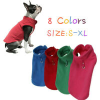 Winter Fleece Pet Clothes Small Dogs Puppy Clothing French Bulldog Coat Jacket Z