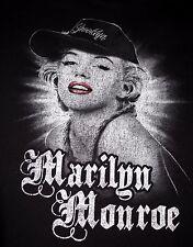 Marilyn Monroe Brooklyn Baseball Cap Hat Black Cotton Tee T-Shirt Size XL