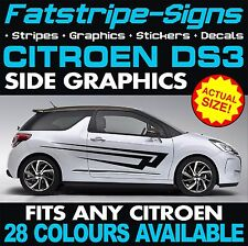 Citroen DS3 Graphique Voiture Vinyl Decals Autocollants Rayures 1.4 1.6 TURBO VTI HDI