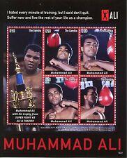 Gambia 2015 MNH Muhammad Ali 5V M / S BOXE Trophy Super Battaglia # 3 ALI & FRAZIER
