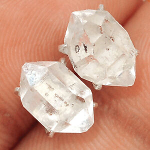 Herkimer Diamond - USA 925 Sterling Silver Earring - Stud Jewelry BE60622