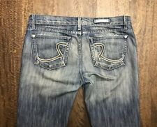 Rock & Republic Women's 31x34 Roth Light Wash Faded Denim Blue Jeans Bottoms EUC