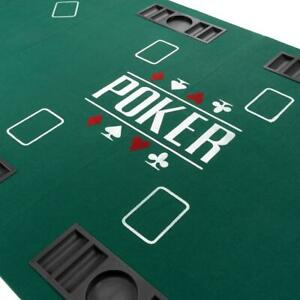 Faltbare Tischauflage Casino Pokertisch Pokerauflage 180 x 90 cm für 8 Spieler