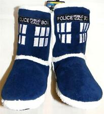 DOCTOR dr WHO plush punk TARDIS blue SLIPPERS shoes BOOTS size small 5/6