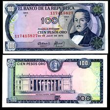 COLOMBIA 100 PESOS ORO 1973 P 415 UNC