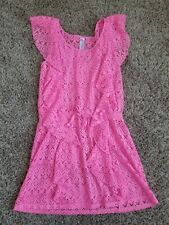 Justice Hot Pink  Swim Cover Up Girls Size 14