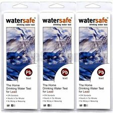 3x Watersafe WS-207 Lead in Home Tap Drinking Water Test Kit, Single Use / each