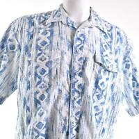 Wrangler Western Pearl Snap White Blue XL Shirt
