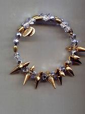 Alex Ani Gold Light Tanzanite Wrap Spike Bracelet Vintage 66