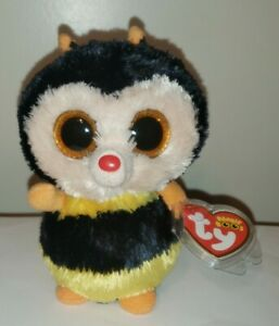 """Ty Beanie Boo Boo's - STING the Bee (Sparkle Eye/Red Tag) 6"""" MINT with MINT TAGS"""