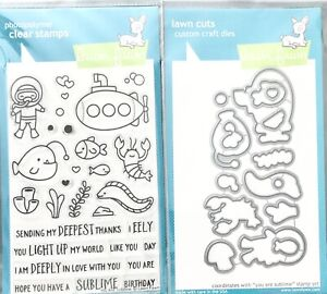 Lawn Fawn YOU ARE SUBLIME Clear Stamps & Lawn Cuts Metal Die Set LF1686 LF1687