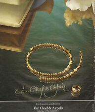 Publicité 1978  Van Cleef & Arpels bijoux bague joaillier collier collection